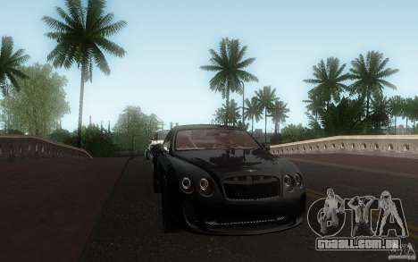 Bentley Continental SS para vista lateral GTA San Andreas