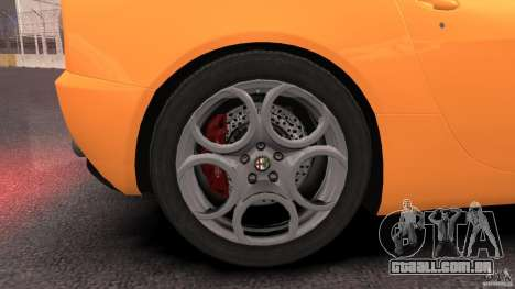 Alfa Romeo 8C Competizione para GTA 4 vista superior