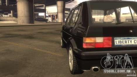 Volkswagen Golf para GTA 4 vista interior