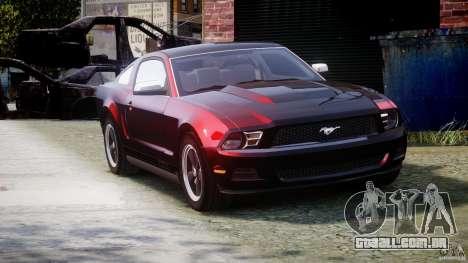 Ford Mustang V6 2010 Chrome v1.0 para GTA 4 vista interior