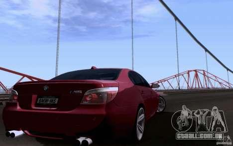 BMW M5 para vista lateral GTA San Andreas