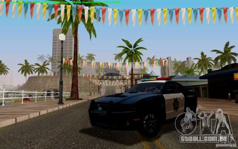 Ford Shelby Mustang GT500 Civilians Cop Cars para GTA San Andreas vista interior