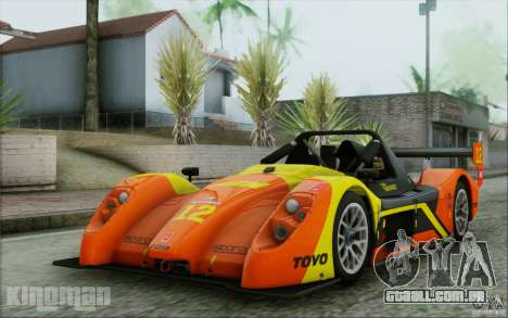 Radical SR3 RS 2009 para GTA San Andreas vista inferior