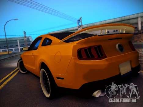 Ford Mustang GT 2010 Tuning para GTA San Andreas traseira esquerda vista