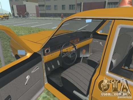 Táxi GAZ 24-01 para vista lateral GTA San Andreas