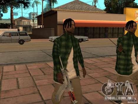 Pak versão doméstica de armas 3 para GTA San Andreas quinto tela
