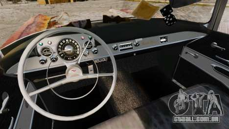 Chevrolet Bel Air 1957 Rusty para GTA 4 vista de volta