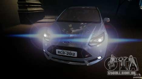 Ford Focus 3 ST para GTA 4 vista de volta