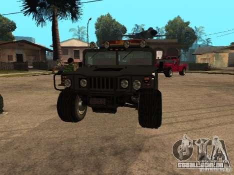 Caminhão HUMMER H1 para GTA San Andreas vista traseira