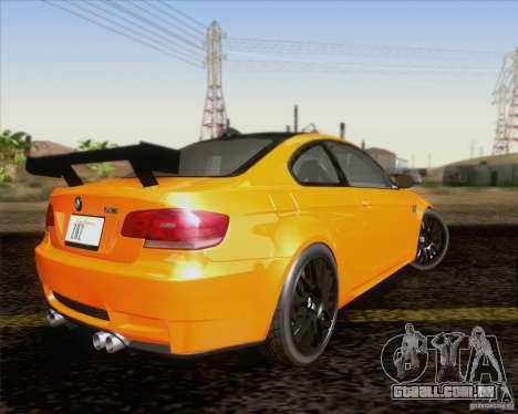 BMW M3 GT-S Fixed Edition para GTA San Andreas vista traseira