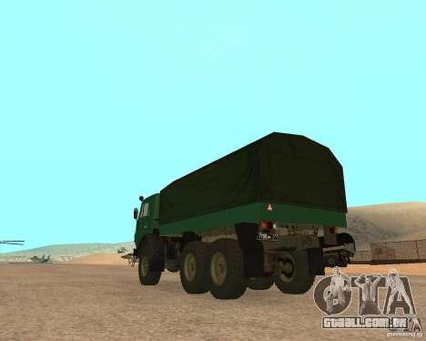 KAMAZ 4310 para GTA San Andreas esquerda vista