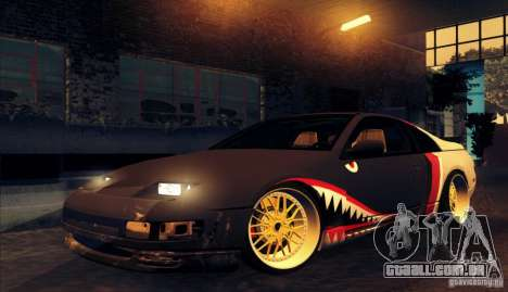 Nissan 300ZX Bad Shark para GTA San Andreas traseira esquerda vista
