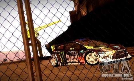 Ford Fiesta Gymkhana 4 para GTA San Andreas esquerda vista