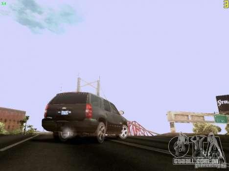 Chevrolet Tahoe 2009 Unmarked para GTA San Andreas vista traseira