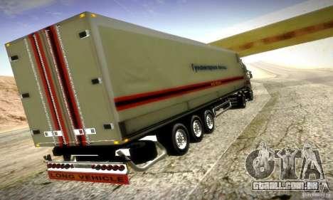 Trailer do FEMA Rússia para GTA San Andreas traseira esquerda vista