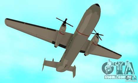 C-2 Greyhound para GTA San Andreas vista interior