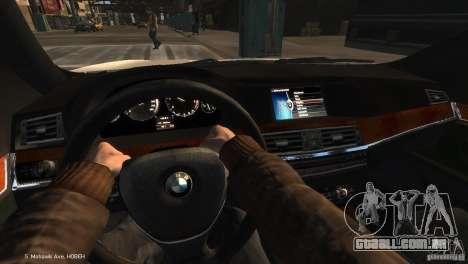 BMW 550i Azeri Police YPX para GTA 4 vista direita