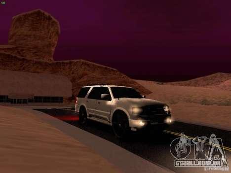 Ford Expedition 2008 para GTA San Andreas vista superior
