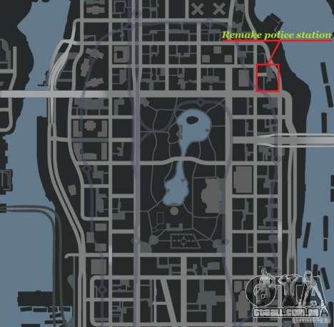 Remake police station para GTA 4 por diante tela