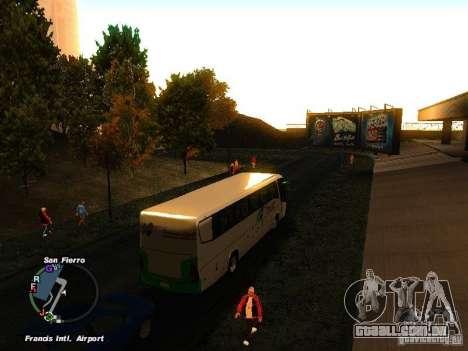 Bus Kramat Djati para GTA San Andreas vista direita
