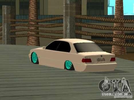 BMW 750i JDM para GTA San Andreas esquerda vista
