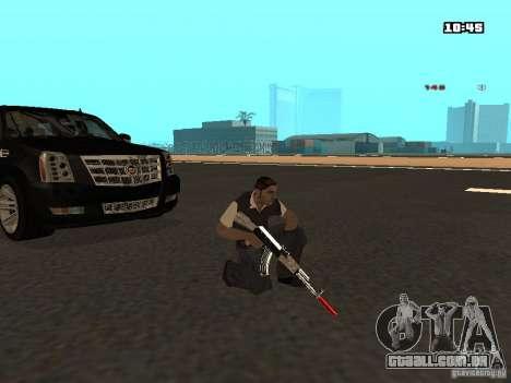 White Red Gun para GTA San Andreas sexta tela