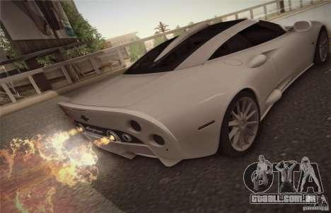 Spyker C8 Aileron para GTA San Andreas vista direita