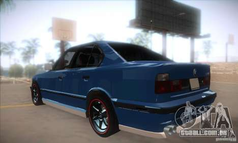BMW M5 para GTA San Andreas traseira esquerda vista