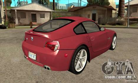 BMW Z4 - Stock para GTA San Andreas vista direita