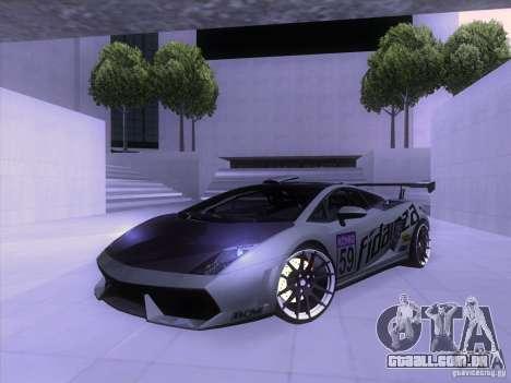 Lamborghini Gallardo Racing Street para GTA San Andreas vista superior