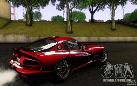 Dodge Viper GTS Coupe TT Black Revel para GTA San Andreas esquerda vista