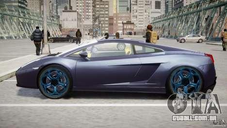 Lamborghini Gallardo Superleggera para GTA 4 vista inferior