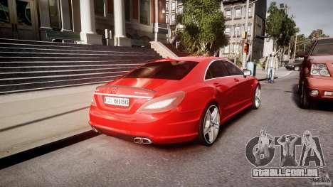 Mercedes-Benz CLS 63 AMG 2012 para GTA 4 vista inferior