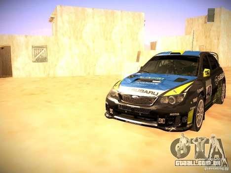 Subaru impreza Tarmac Rally para as rodas de GTA San Andreas