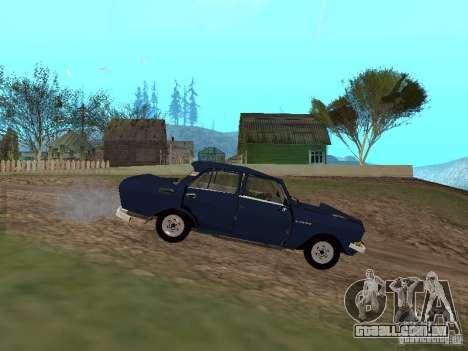 Moskvich esfarrapado para GTA San Andreas esquerda vista