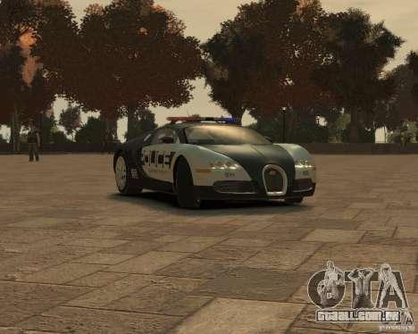 Bugatti Veyron Police [EPM] para GTA 4 esquerda vista