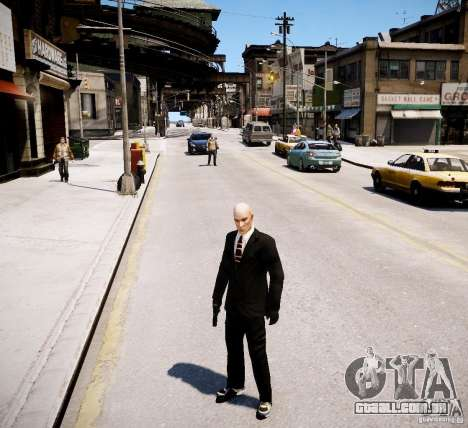 Hitman Blood Money Skin para GTA 4 por diante tela