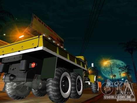 KrAZ caminhão Parade para GTA San Andreas traseira esquerda vista