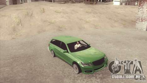 Mercedes-Benz E-Class Estate S212 para GTA San Andreas traseira esquerda vista