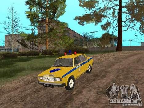 INSPEÇÃO DE CARRO VAZ 2107 para GTA San Andreas vista direita