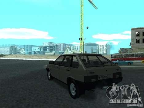 VAZ 2109 CR v. 2 para GTA San Andreas traseira esquerda vista