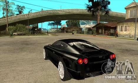 GTA IV SuperGT para GTA San Andreas traseira esquerda vista