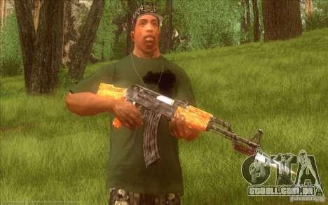 Kalashnikov HD para GTA San Andreas quinto tela