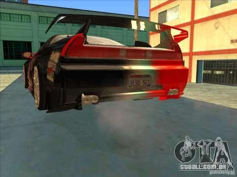 Acura NSX 1991 Tunable para GTA San Andreas vista superior