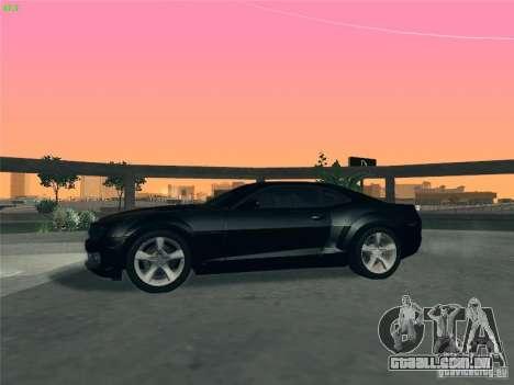 Chevrolet Camaro SS para GTA San Andreas vista superior