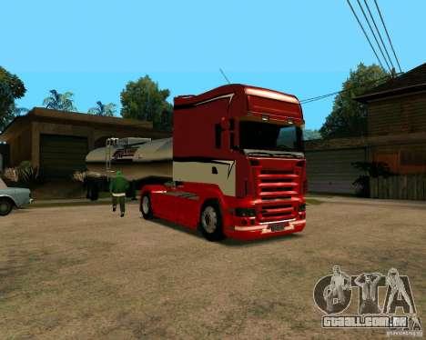 Scania TopLine para GTA San Andreas esquerda vista