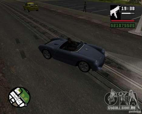 Porsche 550 para GTA San Andreas vista interior