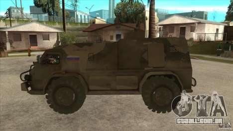 GAZ 39371 Vodnik para GTA San Andreas esquerda vista