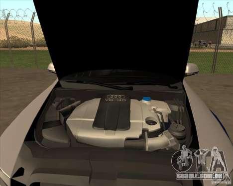 Audi RS6 2010 DPS para GTA San Andreas vista traseira