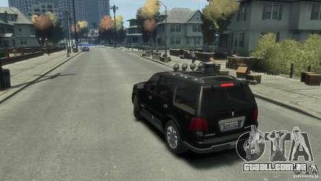 Lincoln Navigator para GTA 4 esquerda vista
